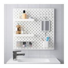 IKEA - SKÅDIS, Lochplatte/Kombination, Das Zubehör lässt sich an der Platte anbringen, wo immer man möchte und alles lässt sich jederzeit wieder verändern.