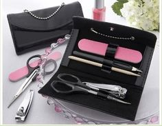 As fashionable as it is functional, our mini purse shaped manicure sets are perfect for your next spa-themed girls' night, bachelorette party, bridal shower, or even baby shower. Unique Bridal Shower, Wedding Shower Favors, Unique Wedding Favors, Baby Shower Favors, Wedding Gifts, Party Favors, Wedding Ideas, Shower Gifts, Bridal Showers