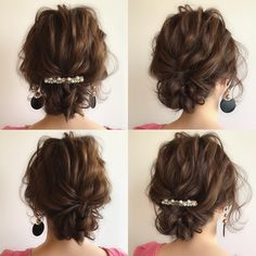 The Most Gorgeous Short Wedding Hairstyles Short Wedding Hair, Wedding Hairstyles For Long Hair, Short Curly Hair, Curly Hair Styles, Casual Hairstyles, Easy Hairstyles, Hair Arrange, Hair Affair, Hair Art