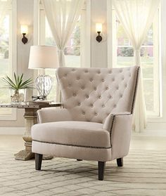 Latest Chairs For Living Room Info: 4450199428 Beige Accent Chairs, Green Accent Chair, Upholstered Dining Chairs, Wingback Chair, Armchair, Swivel Chair, Cool Chairs, Side Chairs, Wayfair Living Room Chairs