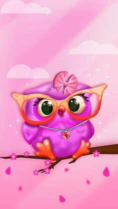 Best Ideas For Wall Paper Celular Fofo Coruja Cute Owls Wallpaper, Et Wallpaper, Cute Wallpaper Backgrounds, Cute Wallpapers, Iphone Wallpaper, Owl Graphic, Art Mignon, Owl Cartoon, Owl Pictures