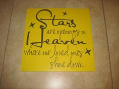 Stars are openings in heaven  Quote  Vinyl by uniquevinyldesigns4u, $10.00