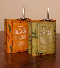 Zizzi Oil Cans by Tobias Hall, via Behance
