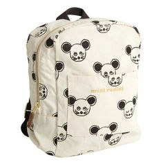 Mini Rodini Mouse Aop Backpack Black| Kidsen.co.uk