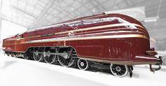 The Duchess of Hamilton streamline steam locomotive.