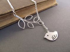 Sweet and Simple Lariat Style Bird Necklace. Starting at $5 on Tophatter.com!