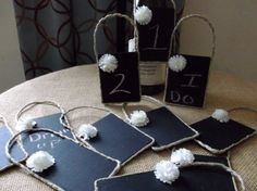 Wedding Table Numbers Chalk Board Sign by DivineRusticCreation, $28.00