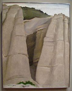 Georgia O'Keefe. Looks like Tent Rocks. A beautiful place to hike if you visit Santa Fe.