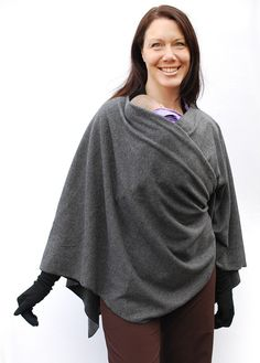 babywearing poncho for those chilly days when you want to wear your baby and stay warm!