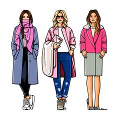 Pink Details#girlsinbloom #illustration #fashionillustration #art_fashion #daily_art #pink #itgirl #иллюстрация #арт #вдохновение #розовый #пальто #апрель #весна #чтонадеть