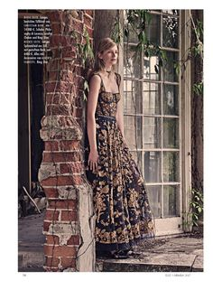 Model Maud Welzen graces the pages of ELLE Germany's October 2017 issue. Photographed by Carl Bengtsson, the blonde beauty wears dresses with elegant, Victorian inspired details. Stylist Vivian Tran selects lace and ruffled embellished gowns from the fall collections. Maud stands out in the designs of Gucci, Valentino, Dior and more in a lush, estate... [Read More]