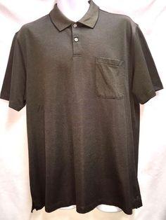 Van Heusen Traveler Luxe Touch Short Sleeved Polo Golf Shirt L Brown Cocoa NEW #VanHeusen #PoloShirt