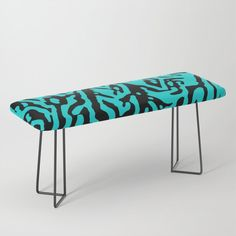 """Park it in style on this incredibly versatile bench, upholstered with vegan leather featuring all the designs you love. The perfect indoor bench, it will give any space an instant upgrade. Dress it with plush blankets or throw pillows to keep it elegant, but super cush. -44"""" x 16"""" x 18"""" (H) -Steel legs available in gold or black -Wipe clean with damp cloth -Assembly required #### Please note: all furniture is custom-made and printed u..."""
