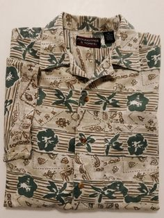 Roundtree & Yorke - Men's Hawaiian Shirt Size Medium Multi-color - Button Down Front with Short Sleeve #RoundtreeYorke #Hawaiian ..... Visit all of our online locations ..... (www.stores.eBay.com/variety-on-a-budget) ..... (www.amazon.com/shops/Variety-on-a-Budget) ..... (www.etsy.com/shop/VarietyonaBudget) ..... (www.bonanza.com/booths/VarietyonaBudget ) .....(www.facebook.com/VarietyonaBudgetOnlineShopping)