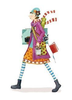 Mónica Carretero Ilustración - monica carretero, tradicional, pintura, pintado, acuarela, tinta, acuarela, libro ilustrado, ficción, educativos, comerciales, comercio, gente, mujeres, mujer, señoras, señora, muchachas