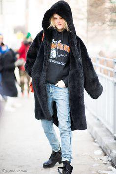 wink + hood = hoodwinked. HGO #offduty in NYC.  #HanneGabyOdiele