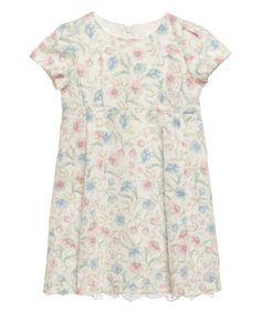 Love this White & Pink Floral Eloise Pima Dress on #zulily! #zulilyfinds