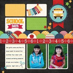 A Lori Whitlock School Days Layout by Mendi Yoshikawa