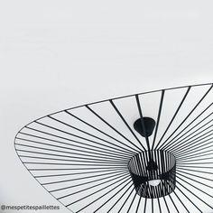 VERTIGO Suspension Ø140cm noir rosace et câble noir Petite Friture,Constance Guisset - 752,00€