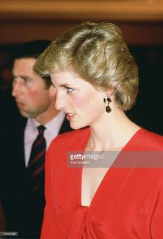 News Photo : Diana, Princess of Wales in Canberra during a...