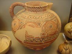 Greek Cycladic Jug decorated with circles