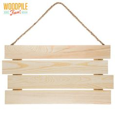 Slatted Panel with Rope Handle