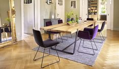 Moderner Stuhl / Polster / Kufen / sternförmiger Fuß - AMELIE BASIC by Birgit Hoffmann - FREIFRAU Dining Chairs, Dining Room, Hoffmann, Amelie, Furniture, Home Decor, Contemporary Chairs, Homes, Woman
