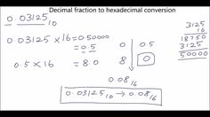 Decimal fraction to hexadecimal