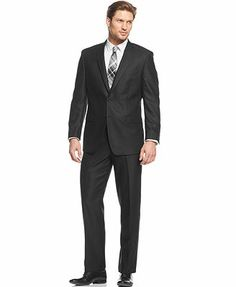 Calvin Klein STEEL Black Suit Slim Fit