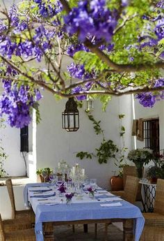 beautiful  dining room natural design luxury homes with Spanish style village atmosphere Outdoor Rooms, Outdoor Dining, Outdoor Decor, Dining Area, Patio Dining, Outdoor Seating, Dining Table, Outdoor Fun, Beautiful Dining Rooms
