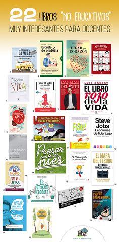 """22 libros """"no educativos"""" muy interesantes para docentes. http://www.elblogdemanuvelasco.com/2016/03/22-libros-no-educativos-muy_12.html"""