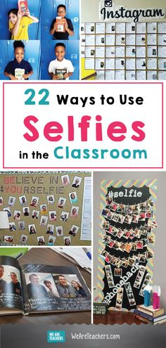 22 Ways to Use Selfies in the Classroom: You're going to love this list of creative ideas for teaching with selfies. 22 Ways to Use Selfies in the Classroom: You're going to love this list of creative ideas for teaching with selfies. Classroom Walls, Classroom Design, Future Classroom, Classroom Themes, School Classroom, Classroom Activities, Classroom Organization, Classroom Management, Grammar Activities