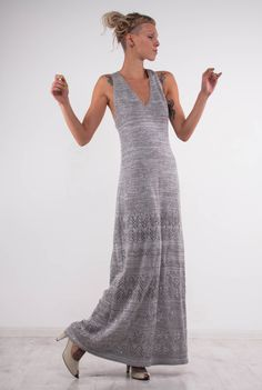 Maxi crochet dress sleeveless cocktail sequins dress evening floor dress viscose…