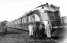 En 1939 el Estado de Chile mando construir a la frabrica Alemana MAN, automotores Diesel-Electricos para unir los 1074 Km entre Santiago y Puerto Mont. Dos llegaron antes de la guerra, el 101 y 102. Al termino de esta se completo el envio, del 103 al 106. La distancia la cubrian en algo mas de 11 hrs., con un promedio de velocidad de casi 100 km - hr. Tenian una velocidad de crucero de 125 km-hr. Aca fotos tomadas en la maestranza de P. Mont el 6 de agosto de 1950.