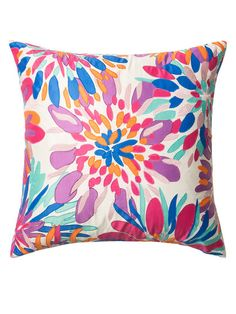 Pillow with Floral Applicade by Loloi Pillows at Gilt