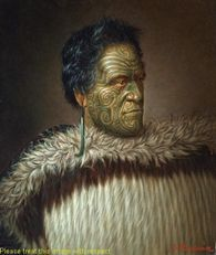 Tomika Te Mutu, oil on canvas - Māori Portraits by Gottfried Lindauer Maori Face Tattoo, Ta Moko Tattoo, Maori Tattoos, Once Were Warriors, Polynesian People, Tiki Tattoo, Maori People, Popular Paintings, New Zealand Art