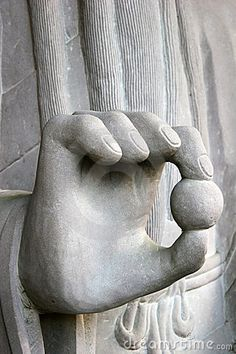 Hand of a Buddha monument in Kyoto, Japan.