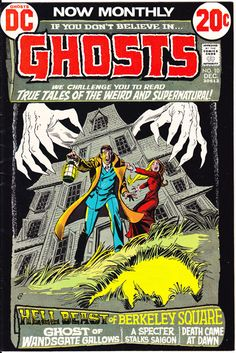 Ghosts 10 DC Comics Berkeley Weird Skeleton Tales of Horror Fear Terror Scary Creepy Nightmare Comic 1972 VF by LifeofComics #halloween #comicbook