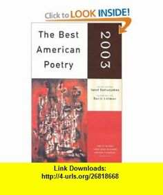 Pin by kortney eggertz on publication design pinterest the best american poetry 2003 9780743203883 yusef komunyakaa david lehman isbn fandeluxe Ebook collections