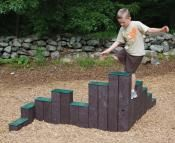 Going green? Recycled playground equipment and site amenities.