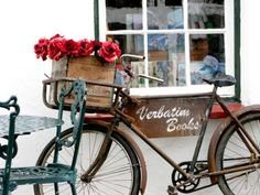 a basket of flowers, what every bike needs