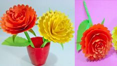 How to Make Beautiful Flower with Paper Colour Paper - Making Paper Flowers Step by Step Paper Craft Making, How To Make Paper, Paper Flowers, Beautiful Flowers, Origami, Paper Crafts, Colour, Rose, Plants