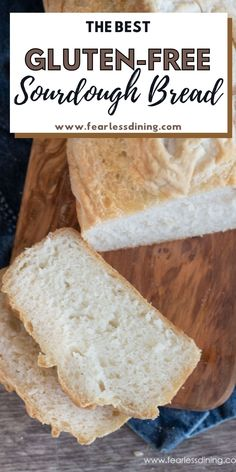 Everyone will love this easy loaf style gluten free sourdough bread recipe. Easy step by step instructions, plus learn how to make a gluten free sourdough starter. This bread makes the best sandwiches. fearlessdining Easy Gluten Free Sourdough Bread Recipe, Best Gluten Free Bread, Sourdough Recipes, Bread Recipes, Gluten Free Dinner, Gluten Free Desserts, Gluten Free Recipes, Chef Recipes, Baked Goods