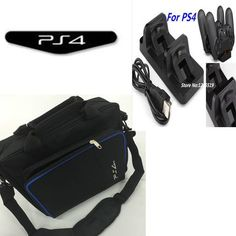 PS4 carry bag carrying storage travel Handbag Shoulder bag+Dual USB Wireless Charging Dock Station for ps4 Playstation 4 Console
