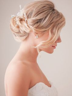 Hot Wedding Updo Hairstyles 2015 with Waterfall Lashes