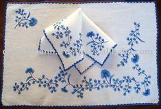 mantel bordado a mano-Servilletas-Identificación del producto: