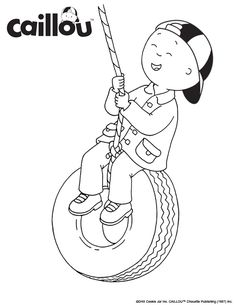 ready to learn caillou coloring sheet 2
