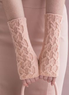 #8 Cabled Wrist Warmers