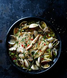 Baked fish and clams recipe, Pete Evans :: Gourmet Traveller