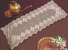 fillet crochet table runner   Crochet Knitting Handicraft   Bloglovin'